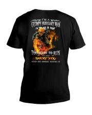 H - FEBRUARY MAN V-Neck T-Shirt thumbnail