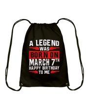 7th March legend Drawstring Bag thumbnail