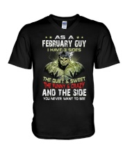 H - FEBRUARY GUY V-Neck T-Shirt thumbnail