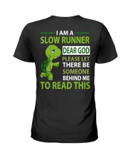 SLOW RUNNER Ladies T-Shirt back
