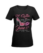 JUNE 5 Ladies T-Shirt women-premium-crewneck-shirt-front