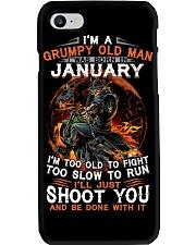 Grumpy old man January tee Cool T shirts for Men Phone Case thumbnail