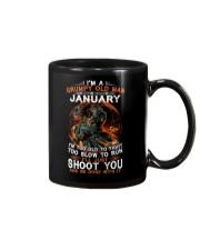 Grumpy old man January tee Cool T shirts for Men Mug thumbnail