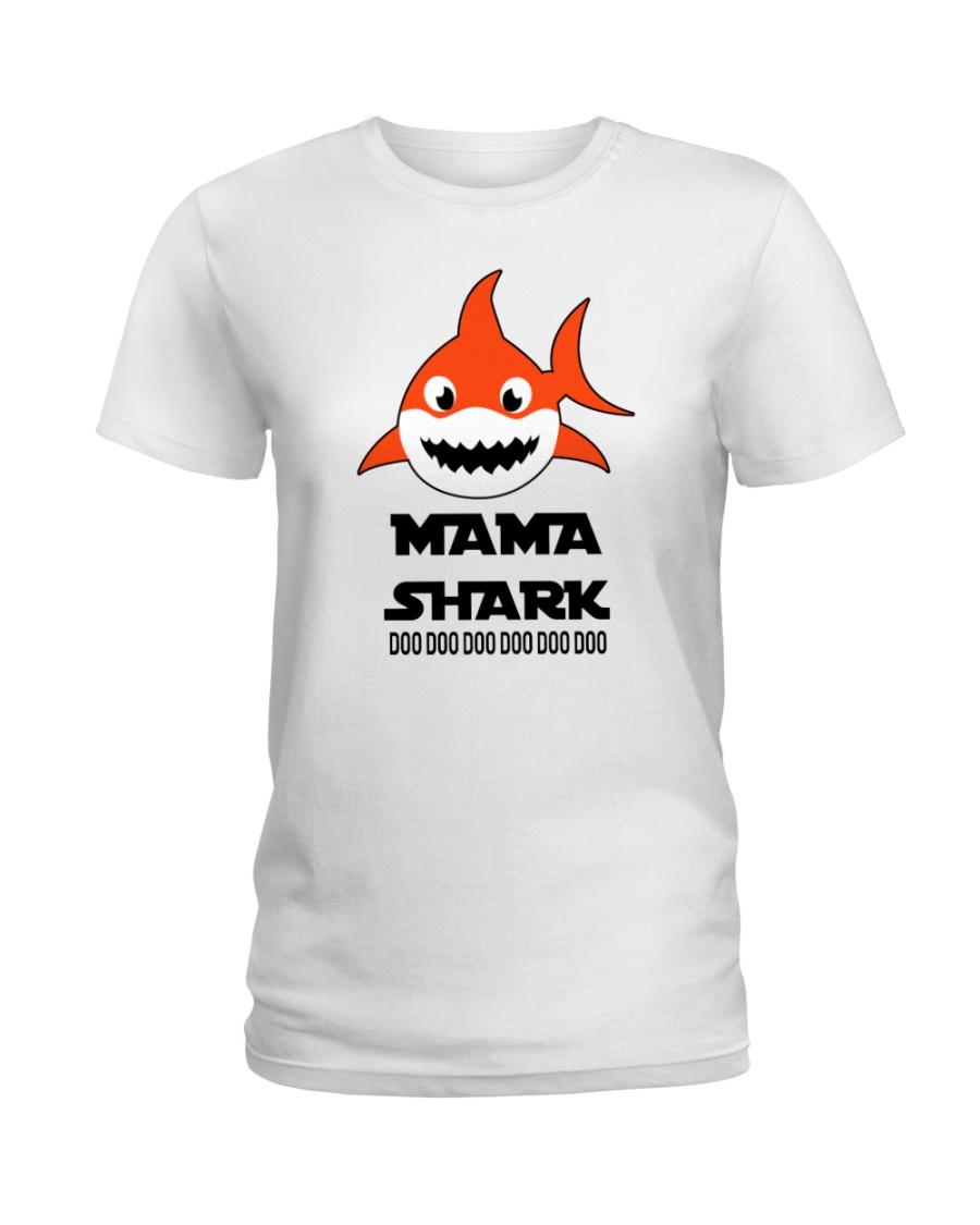 H - MAMA SHARK Ladies T-Shirt