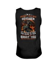 Grumpy old man October tee Cool T shirts for Men Unisex Tank thumbnail