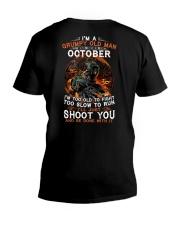 Grumpy old man October tee Cool T shirts for Men V-Neck T-Shirt thumbnail