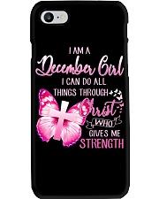 DECEMBER GIRL-D Phone Case tile