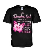 DECEMBER GIRL-D V-Neck T-Shirt tile
