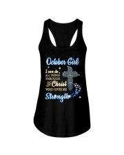 H - October Girl Ladies Flowy Tank thumbnail