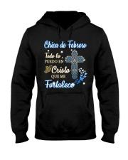 H - CHICA DE FEBRERO Hooded Sweatshirt thumbnail