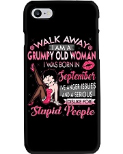 GRUMPY OLD WOMAN SEPTEMBER Phone Case tile