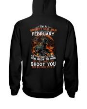 H Grumpy old man Febuary tee Cool T shirts for Men Hooded Sweatshirt thumbnail
