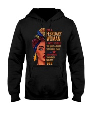 H- FEBRUARY WOMAN Hooded Sweatshirt thumbnail