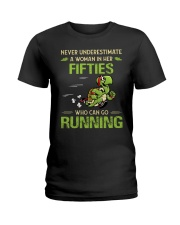 RUNNING FIFTIES Ladies T-Shirt thumbnail