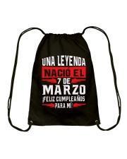 7 DE MARZO Drawstring Bag thumbnail