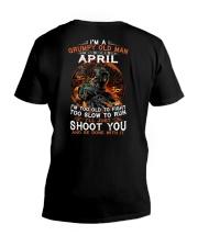Grumpy old man April tee Cool T shirts for Men V-Neck T-Shirt thumbnail