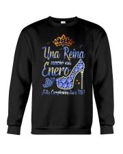 Camisetas sublimadas mujer para reinas de enero Crewneck Sweatshirt thumbnail