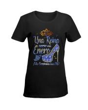 Camisetas sublimadas mujer para reinas de enero Ladies T-Shirt women-premium-crewneck-shirt-front
