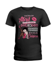 Camisetas Sublimadas nacida en Abril para mujer Ladies T-Shirt thumbnail