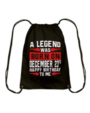 DECEMBER LEGEND Drawstring Bag thumbnail