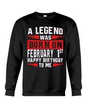 1st February legend Crewneck Sweatshirt thumbnail