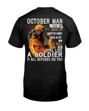 OCTOBER MAN Classic T-Shirt back