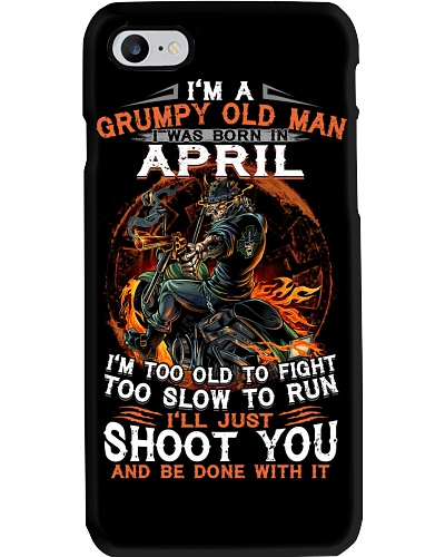 H - Grumpy old man April tee Cool T shirts for Men