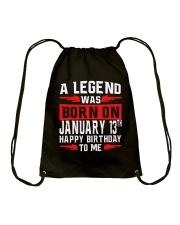 13th January legend Drawstring Bag thumbnail