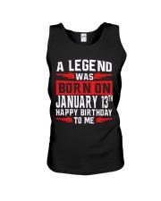 13th January legend Unisex Tank thumbnail