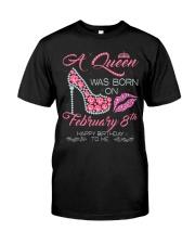 8 FEBRUARY QUEEN Classic T-Shirt thumbnail