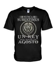 REY DE AGOSTO V-Neck T-Shirt tile