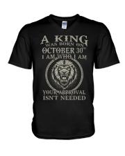 OCTOBER KING 30 V-Neck T-Shirt tile