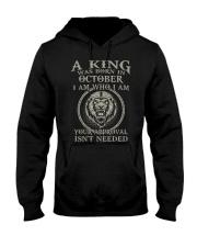 H- OCTOBER KING  Hooded Sweatshirt tile