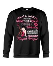 H - GRUMPY OLD WOMAN FEBRUARY Crewneck Sweatshirt thumbnail