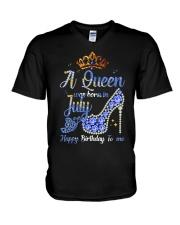 JULY QUEEN-D V-Neck T-Shirt thumbnail