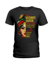 NOVEMBER QUEEN Z Ladies T-Shirt front