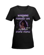 H - FEBRUARY GIRL Ladies T-Shirt women-premium-crewneck-shirt-front