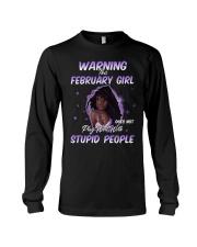 H - FEBRUARY GIRL Long Sleeve Tee thumbnail