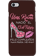 13 DE FEBRERO Phone Case tile