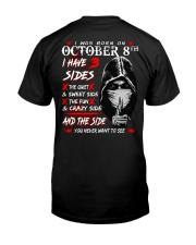 OCTOBER 8 Classic T-Shirt back