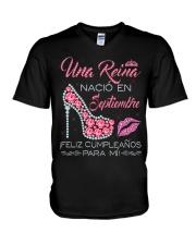 H - Camisetas Sublimada Reinas de Septiembre mujer V-Neck T-Shirt tile