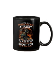 H Grumpy old man August tee Cool T shirts for Men Mug thumbnail
