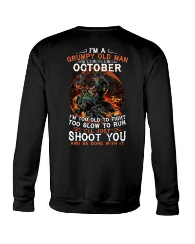 H Grumpy old man October tee Cool T shirts for Men