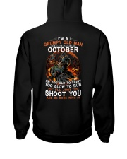 H Grumpy old man October tee Cool T shirts for Men Hooded Sweatshirt thumbnail