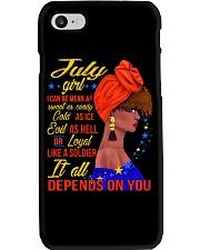 JULY GIRL Phone Case tile