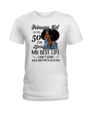 FEBRUARY GIRL Ladies T-Shirt thumbnail