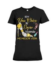 UNA CHICA ENERO Premium Fit Ladies Tee thumbnail