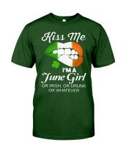KISS ME I'M JUNE GIRL Classic T-Shirt front