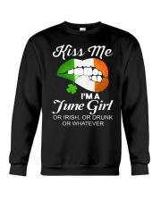 KISS ME I'M JUNE GIRL Crewneck Sweatshirt thumbnail
