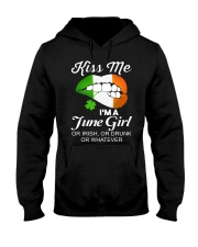KISS ME I'M JUNE GIRL Hooded Sweatshirt thumbnail